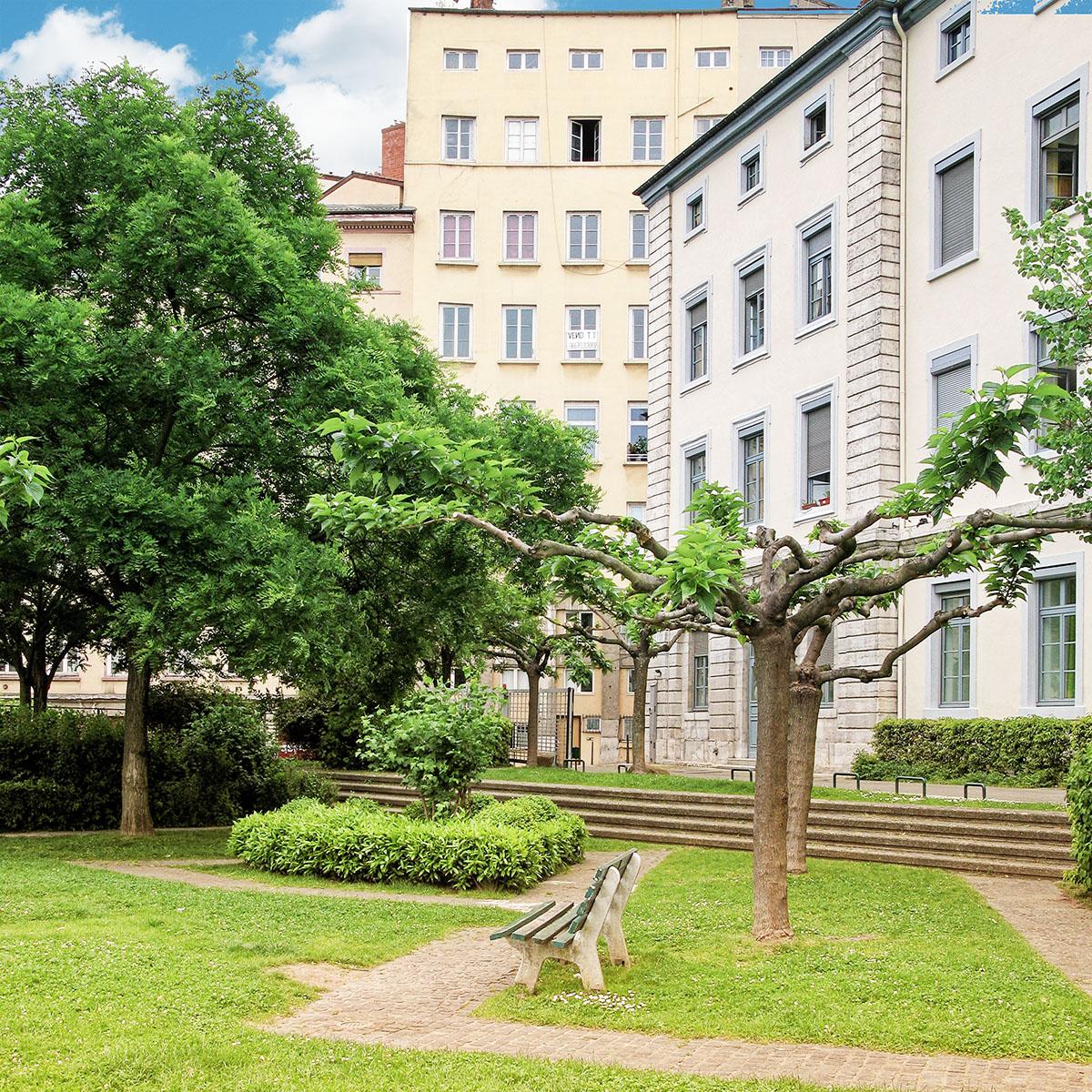 R sidence villemanzy mont e saint s bastien rue des fantasques lyon 1er - Jardin villemanzy lyon lyon ...